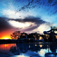 Pool Sunset